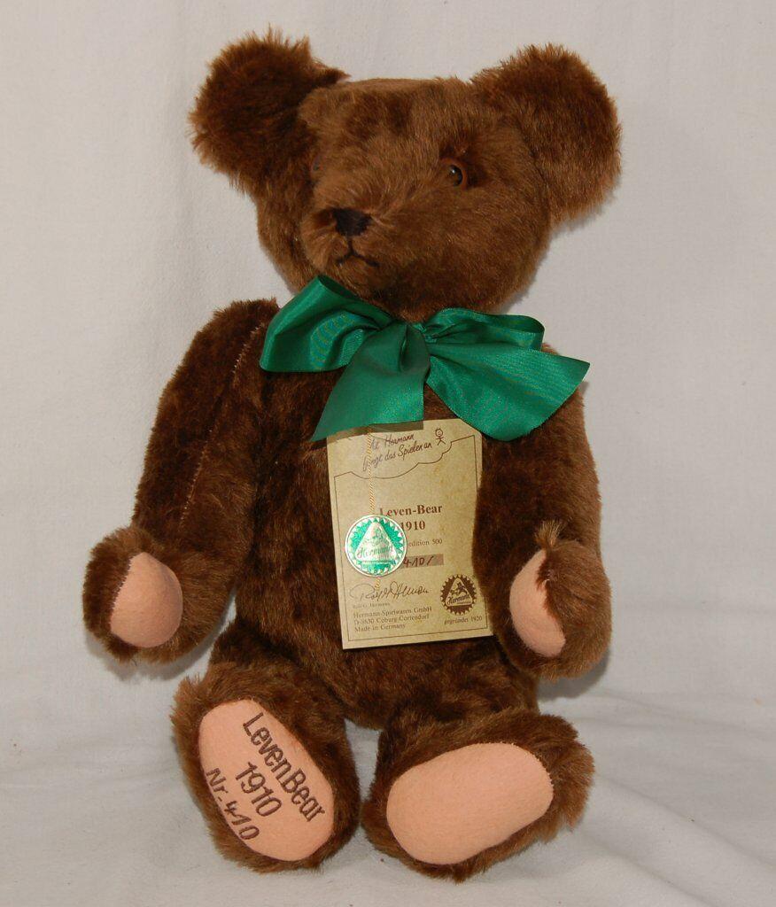 Hermann Teddy Leven-Bear 1910 limitiert -  Nr. 410 von 500 - Plüschteddy Plüsch