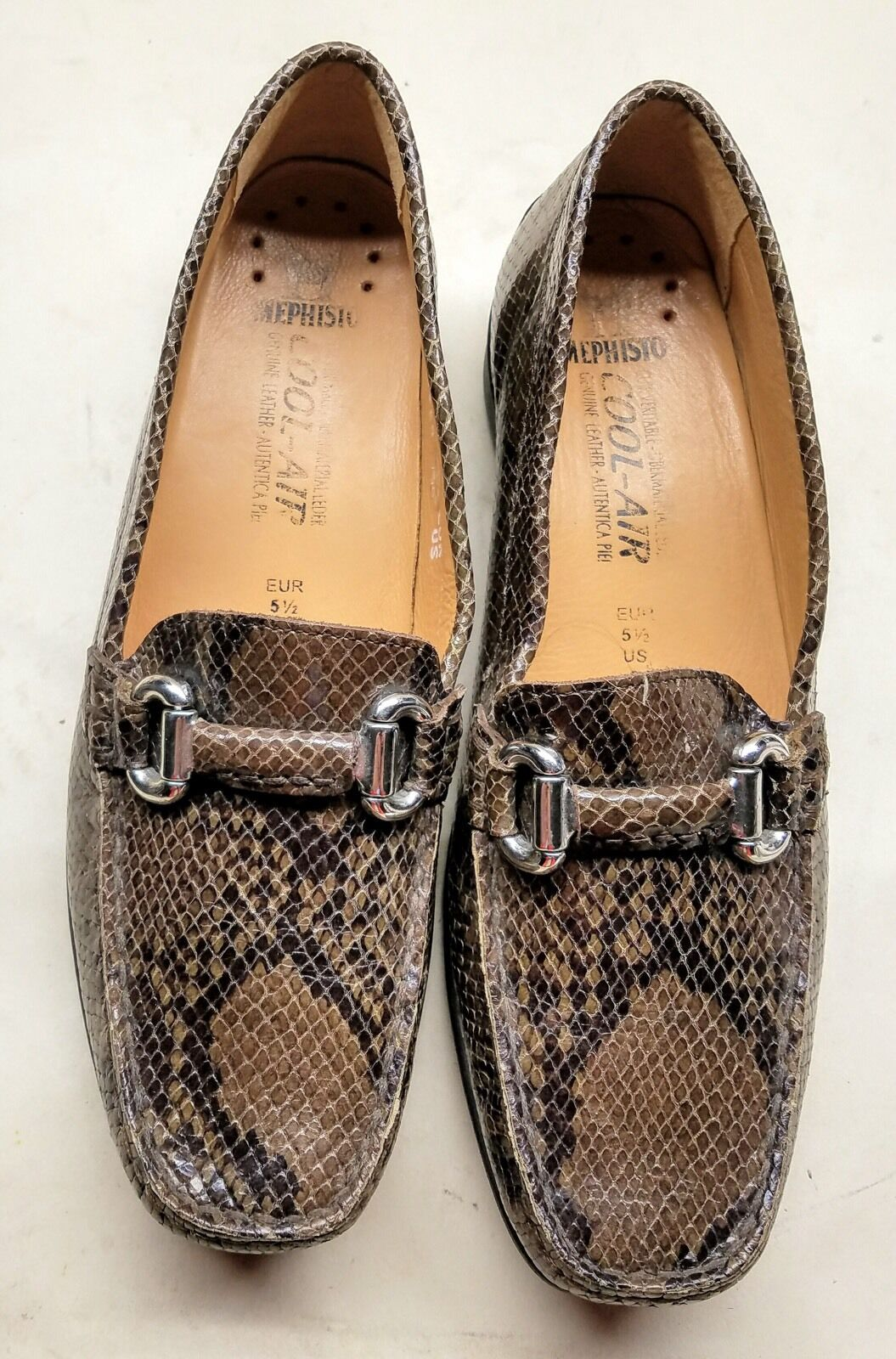 Mephisto  NATALA Beige Leather With Snake Print