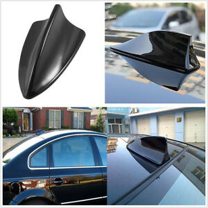 Image Is Loading Abs Plastic Black Autos Shark Fin Antenna Aerial