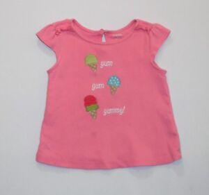 Gymboree ICE CREAM SWEETIE White Pink Ruffle Cone Tee Top Shirt NWT