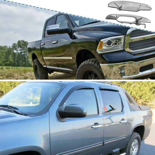Details about  /Front Chrome Outer Outside Exterior 2XDoor Handle Pair Set for Chevy GMC Pickup