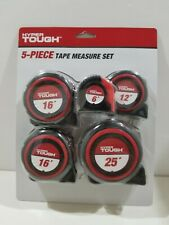 Tape Measure 5-Pack Hyper Tough 6ft 12ft 16ft 16ft and 25ft 3423