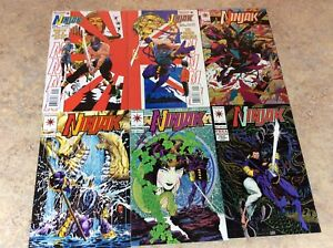 NINJAK-0-00-1-2-3-4-LOT-OF-6-NM-COMIC-1994-1995-VALIANT