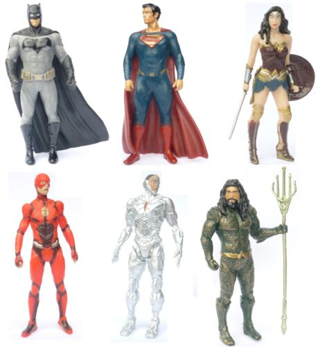 Cake Toppers Justice League Set Batman Superman Flash Cyborg Aquaman Wonder W