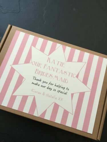 Present Gift 1 Personalised wedding thank you Retro Sweet//Chocolate Box