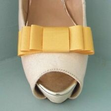 2 Golden Yellow Triple Bow Clips for Shoes - other colours on request