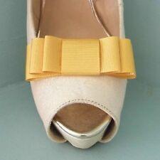 2 Giallo Oro Triplo Fiocco Clip Per Scarpe-altri colori su richiesta