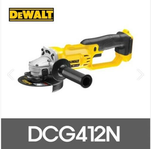 Dewalt DCG412N 18V Cordless 125mm M10 Angle Grinders Only Body Tools Garden
