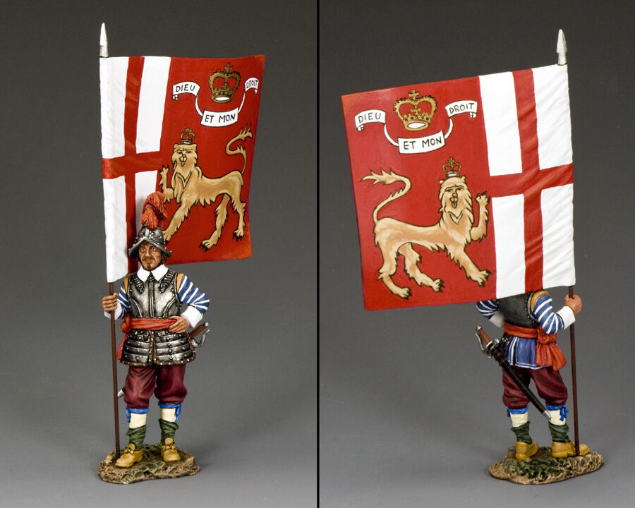 Flagbearer Kings Lifeguard Pike & Musket PnM021 English Civil War King & Country