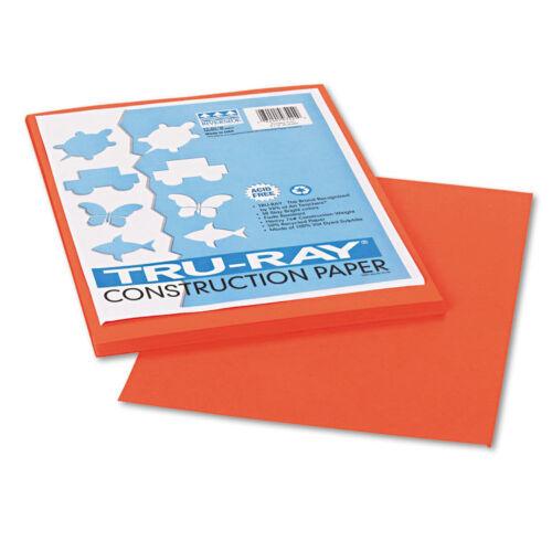 PAC1034 50 Sheets//Pack 9 x 12 PK Pumpkin Pacon Tru-Ray Construction Paper