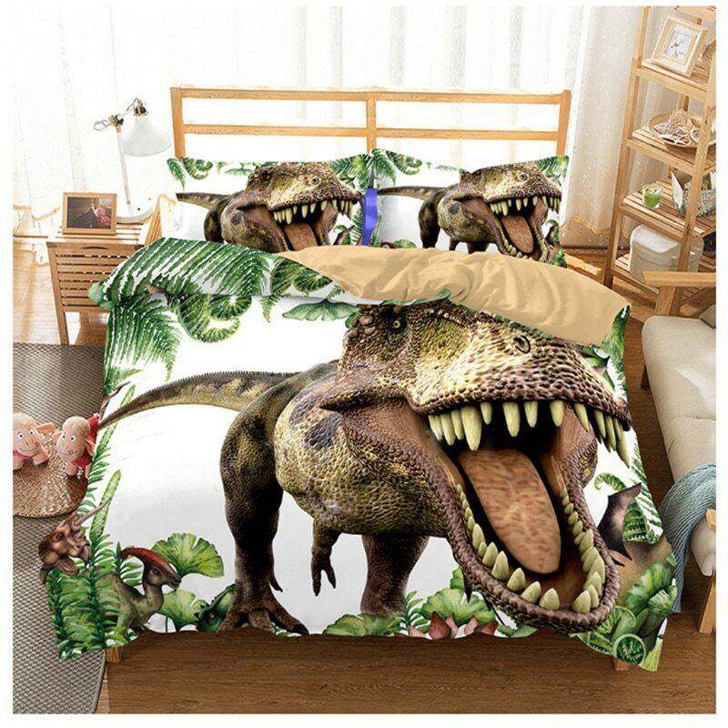 Juego de cama de dinosaurio de Parque Jurásico conjunto de ropa de cama para