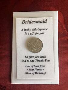 Bridesmaid-Thank-You-Laminated-Wallet-Card-amp-Envelope-with-Sixpence