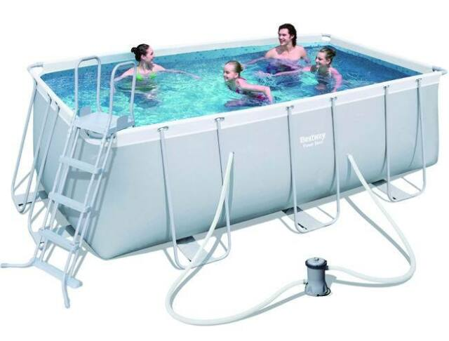 Gut gemocht Bestway Power Steel Frame-Pool - Grau (56456) günstig kaufen | eBay PU95