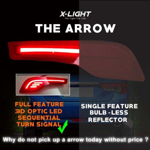 2PCS For Honda CR-V CRV 2017 2018 LED Rear Bumper Light Rear Fog Lamp Reflect