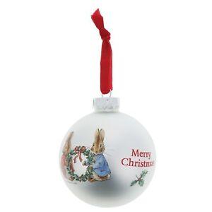 Peter-Rabbit-amp-Floppy-Xmas-Natale-azienda-Holly-CORONA-bauble