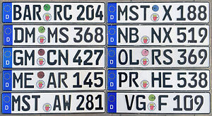 German License Plate Registration Seal Bremen Mini Cooper 2020 Set