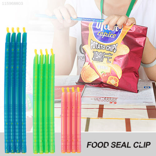 12Pcs 3Sizes Seal Stick Storage Chip Bag Fresh Food Snack Clip Grip Coffee