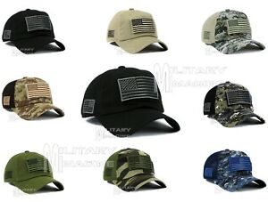 a96d9f95139 Tactical Operator With USA Flag Patch Micro Profile Mesh Military ...