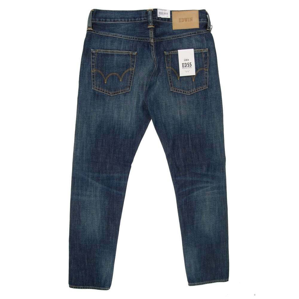 JEANS EDWIN HOMME ED 55 REGULAR TAPERED (bluee-grime dirt wash) W31 L32 VAL