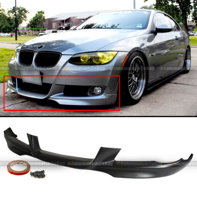 Rear Bumper Lip Diffuser Compatible With 2007-2013 BMW E92 E93 3 Series M-Tech Style Unpainted PP Air Dam Chin Diffuser Rear Bumper Lip by IKON MOTORSPORTS 2008 2009 2010 2011 2012