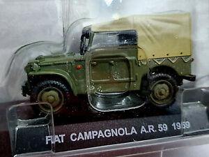 Fiat-Campagnola-A-R-59-1959-Carabinieri-Scala-1-43-Atlas-Nuovo