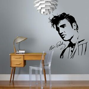 Elvis-Presley-Face-Music-Vinyl-Home-Wall-Decal-Sticker-PE6