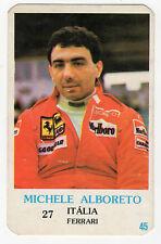 1986 portugués De Bolsillo Calendario F1 italiana Ferrari Equipo conductor Michele Alboreto
