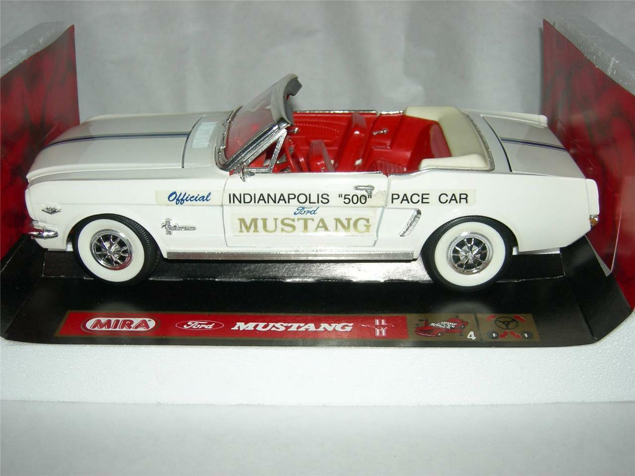 FORD MUSTANG 1964 1 2 Indianapolis 500 Pace Voiture Blanc Lim. Ed. par MIRA nouveau. Comme neuf IN BOX