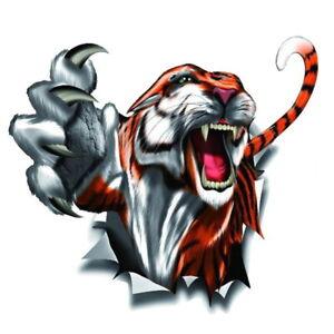 Tiger-voiture-autocollant-moto-Predateur-Crampon-griffe-trou-3d-carrosserie-Patmol
