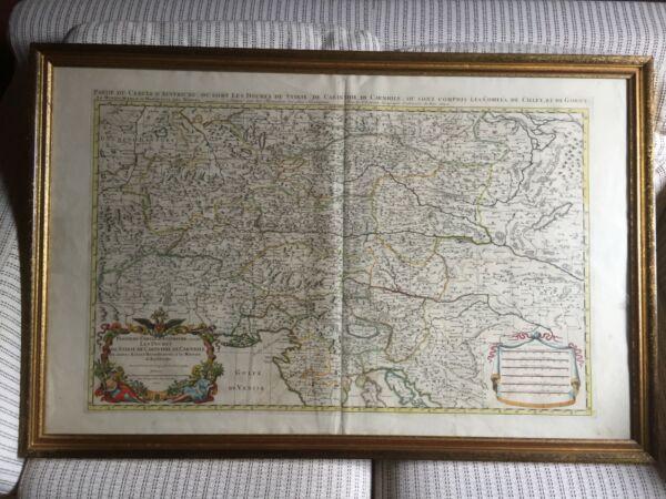 DemüTigen Kupferstich-karte Sanson 1692-salzburg/steiermark-108x70cm-altkoloriert/gerahmt