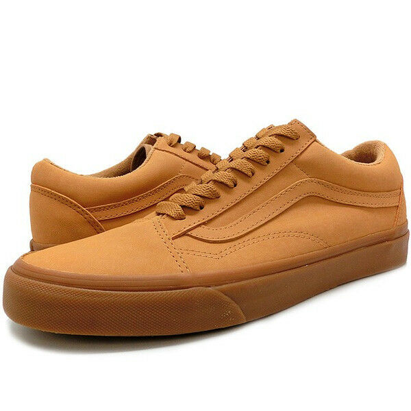 VANS CLASSIC OLD SKOOL VANSBUCK MEN SHOES LIGHT GUM MONO N0A38G1OTS SZ 8 NEW