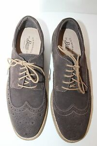 Brian Astuce Cuir Bass 7 New Oxford Hommes Wing Lacets Daim Marron Chaussures Brogue Tw5Cqg
