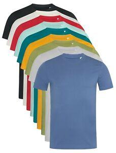 Mans-Mens-Plain-Organic-Cotton-Crew-Neck-Short-Sleeve-Tee-T-Shirt-TShirt-S-XXL