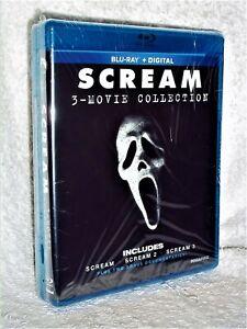Scream 4-Movie Collection (Blu-ray, 2020, 5-Disc) David Arquette Drew Barrymore