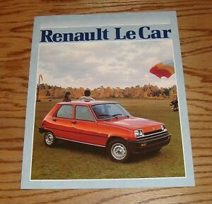 original 1981 renault le car sales brochure 81 ebay. Black Bedroom Furniture Sets. Home Design Ideas