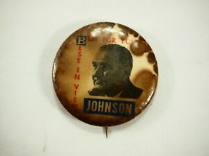 Johnson-Mejor-en-Vista-Mejor-para-Usted-Politico-Campaign-Pin-Back-Pin