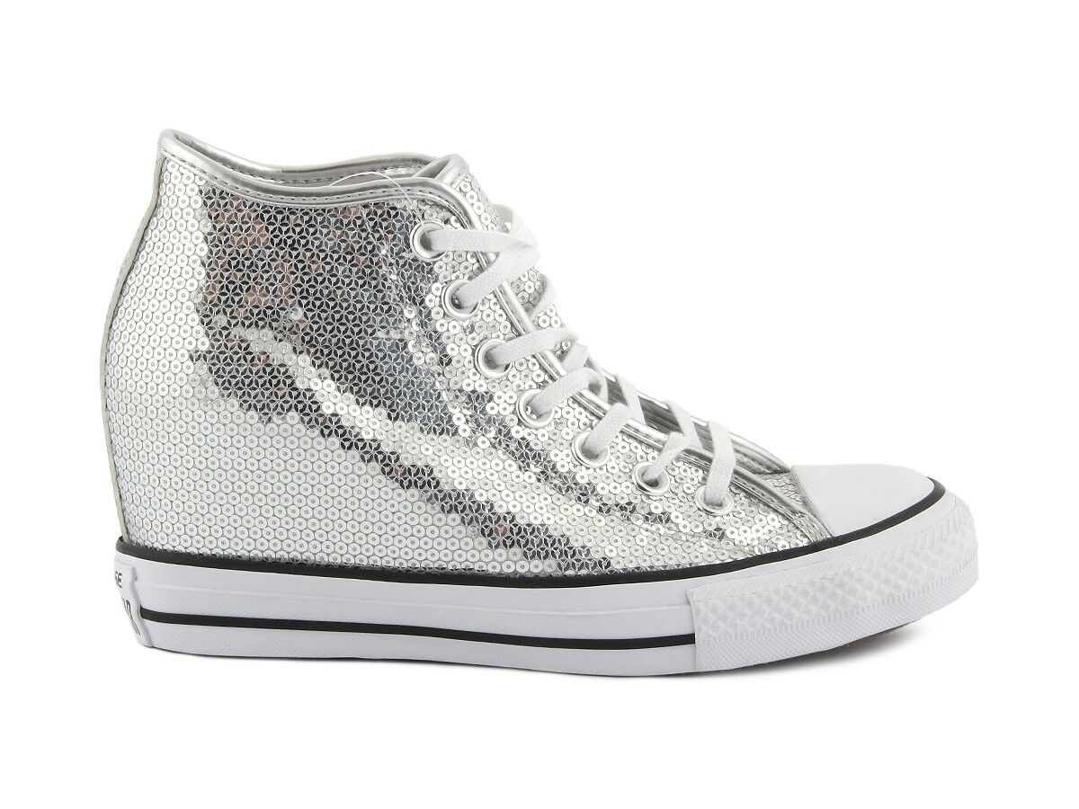 556781C CONVERSE ALL STAR CT LUX MID 556781C silver Sneakers women