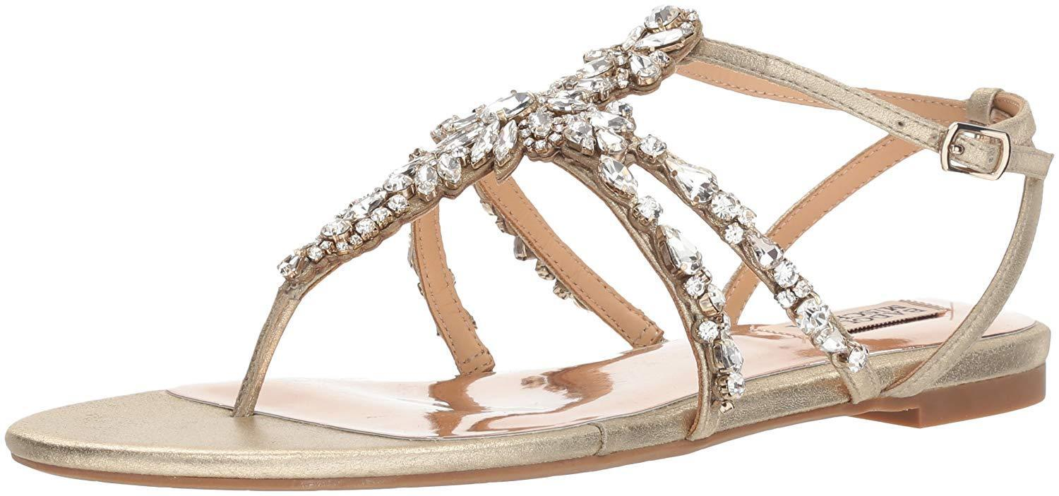 Badgley Mischka Womens Hampden Flat Sandal- Pick SZ color.