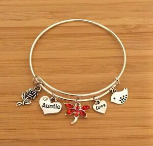 Image Is Loading Personalised Gift Bracelets Cousin Teacher Mum Sister Daughter