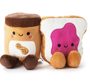 Hallmark-Valentine-Better-Together-Peanut-Butter-Jelly-Magnetic-Plush-New-Tag