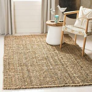 Jute Rug 100% Natural Braided Rectangle Floor Rugs Modern Look Area carpet rug
