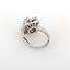Estate-14K-White-Gold-Floral-Diamond-Ladies-Ring-0-50-TW-Round-Diamonds-Size-4-5 thumbnail 3