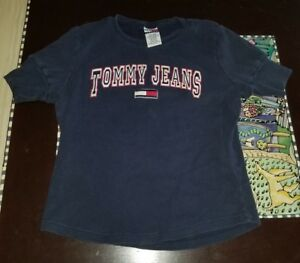 ce2ed6655 Vintage 90s Tommy Hilfiger Jeans Spell Out TShirt Large Shirt Street ...