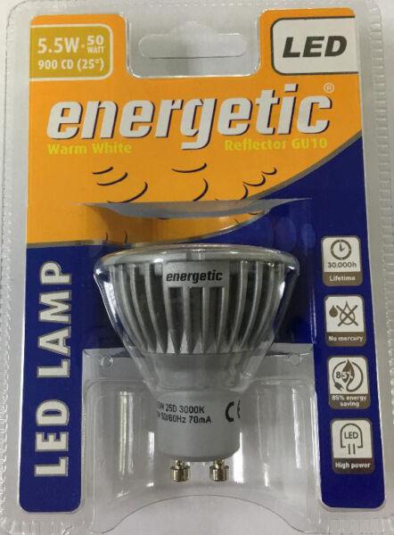 1 X 5.5w=50w 3000k Bianco Caldo Riflettore Gu10 Led Lampadina Per Lampada Fabbricazione Abile