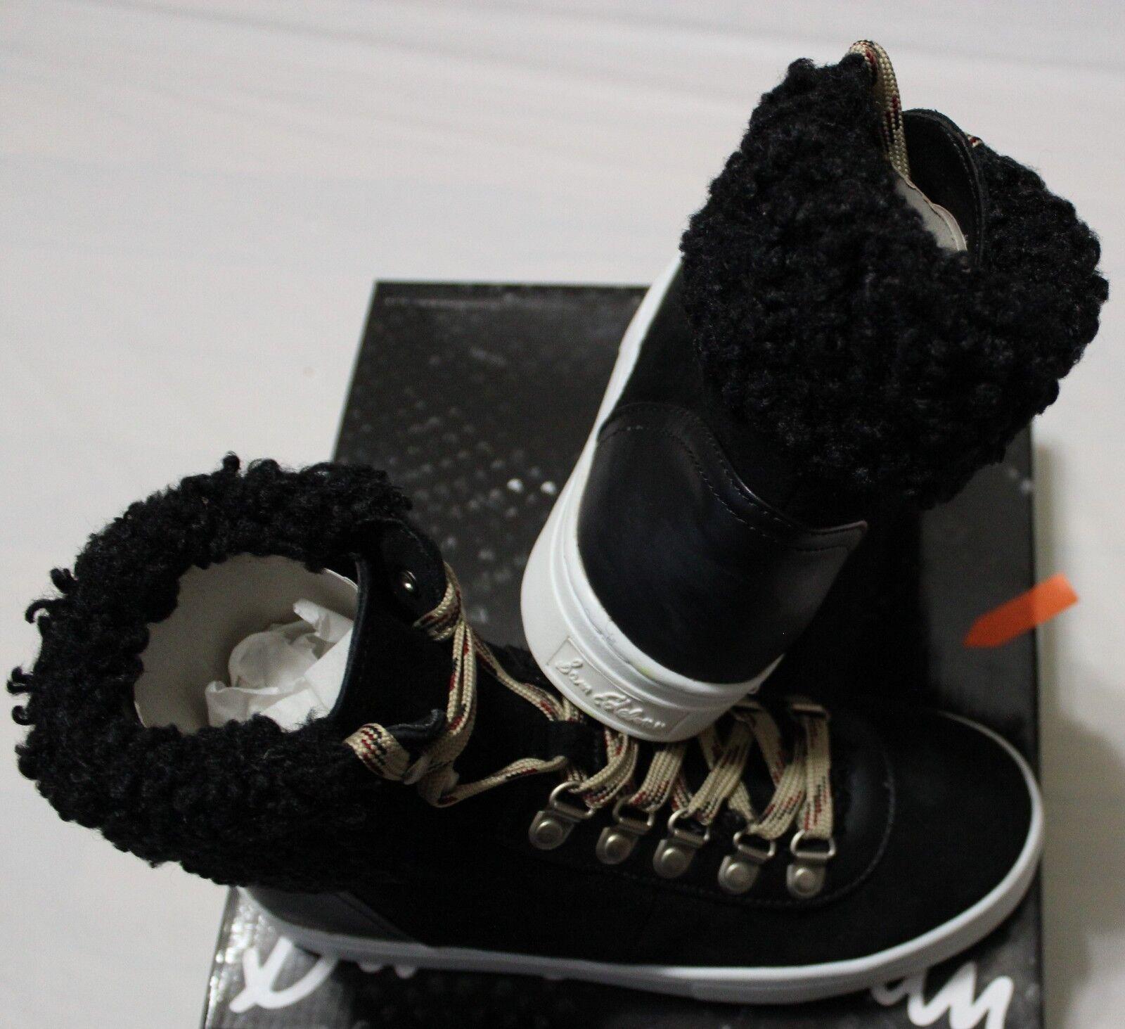 120 SAM EDELMAN LUTHER BLACK BLACK BLACK FAUX SHRLING HI-TOP SNEAKER (1/2 SZ BIGGER) 1d0069
