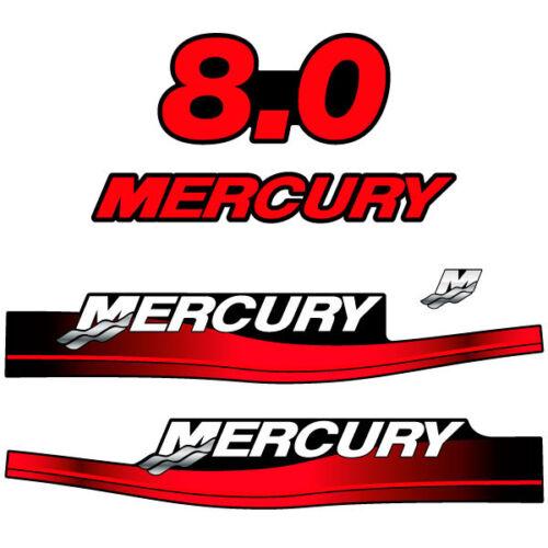 1999-2004 decal aufkleber adesivo sticker set Mercury 8.0 outboard