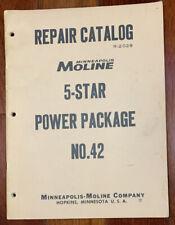 Minneapolis Moline 5 Star Power Package No 42 Repair Catalog Manual R 2029