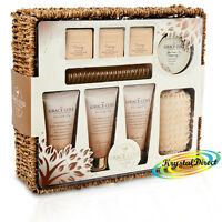 Grace Cole Warm Vanilla & Fig 9pc Toiletry Home Spa Luxury Xmas Bath Gift Set