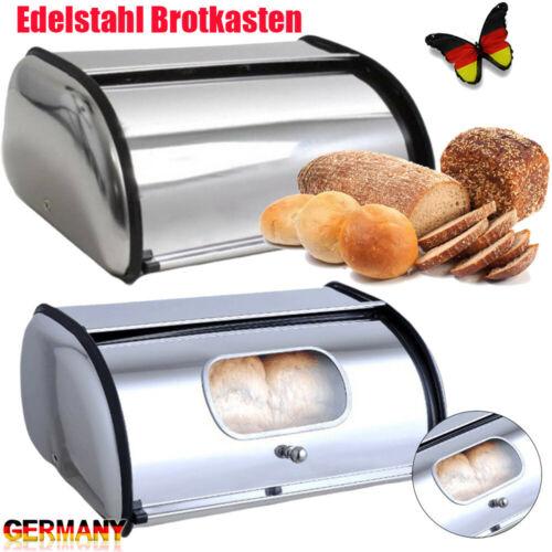 Edelstahl Brotkasten Brotbox Brotbehälter Brotaufbewahrungsbox mit Sichtfenster