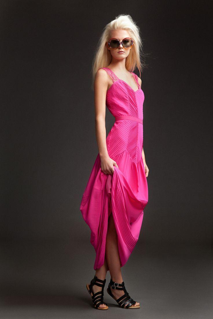 ALICE por Temperley para  mujeres Vestido Largo Fucsia mina Talla 12    2  venderse como panqueques